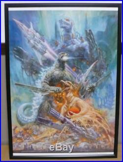 Noriyoshi Ohrai Mecha Godzilla A2 Print Vintage Toho Studios Kaiju 1993 Japan
