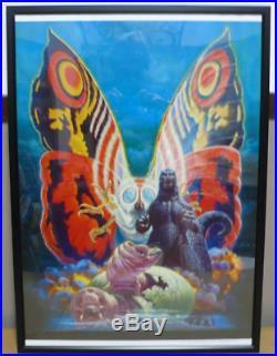 Noriyoshi Ohrai Mothra Godzilla A2 Print Vintage Toho Studios Kaiju 1992 Japan