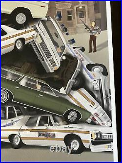 ONLY 100 MADE The Blues Brothers movie poster Art John Belushi Chicago sdcc vtg