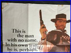 ORIGINAL UK quad poster Fist full of dollars Eastwood vintage Western Movie film