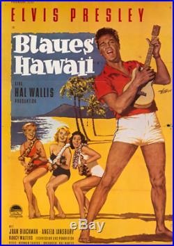 ORIGINAL Vintage Movie Poster ELVIS PRESLEY Hal Wallis BLUE HAWAII Maui Kauai