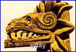 ORIGINAL Vintage Travel Poster MEXICO Mayan Feathered Snake Quetzalcoatl Aztek