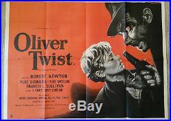 Oliver Twist Original Uk Quad Movie Poster David Lean Rare Vintage