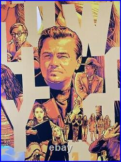 Once Upon A Time In Hollywood Movie Poster Foil Art Joshua Budich SDCC mondo vtg