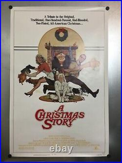 Original 1983 A Christmas Story 27 X 41 Rolled Vintage Movie Poster Excellent