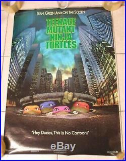 Original 1990 Teenage Mutant Ninja Turtles Movie Poster One Sheet Vintage