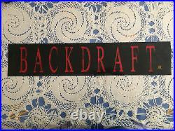 Original 90s Backdraft 1991 Movie Theater Mylar Poster Sign Vintage Rare