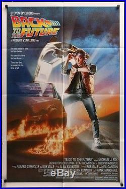 Original Back To The Future Studio Style 1sh 85' Vintage Movie Poster