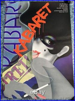Original Cabaret, Czech A3, Film Movie Poster, 1975 Vintage Liza Minelli WWII