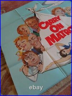 Original Carry On Matron vintage UK Quad film poster 30 x 40 1972