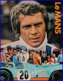 Original Movie Poster Le Mans Steve McQueen Porsche 917K Car 1971