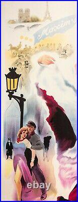 Original Poster Moulin Rouge Toulouse Lautrec La Goulue Jane Avril 1952
