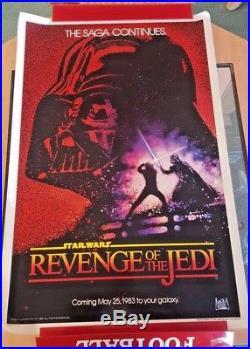 Original Vintage 1982 Star Wars Revenge of the Jedi Poster One Sheet 27x41