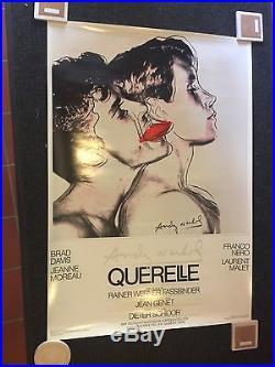 Original Vintage 28x40Querelle 1982 Movie Poster (Grey/White) Andy Warhol