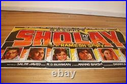 Original Vintage Bollywood Sholay Movie Poster
