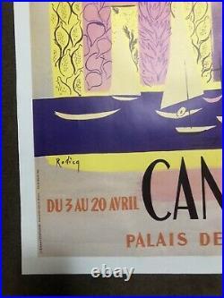 Original Vintage Cannes Film Festival Poster 1951