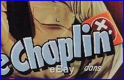 Original Vintage Charlie Chaplin Belgian Movie Poster La Dictateur 1940