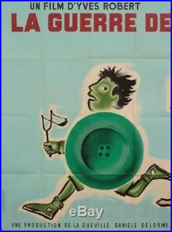 Original Vintage French Movie Poster La Guerre des Boutons by Savignac 1961