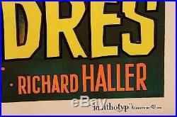 Original Vintage French Movie Poster for LE BOSSU DE LONDRES by CASARO 1966