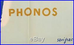 Original Vintage French Poster Pathe Radio by Savignac 1951