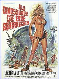 Original Vintage German Movie Poster When Dinosaurs Ruled the Earth 1960's
