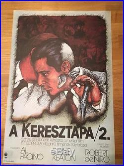 Original Vintage Hungarian Movie Poster Godfather 2