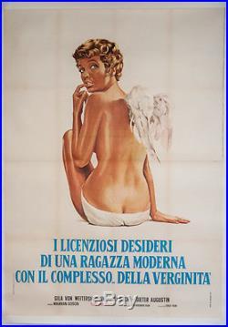 Original Vintage Italian Movie Poster 1971
