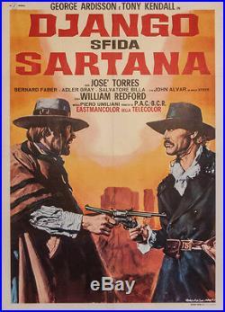 Original Vintage Italian Movie Poster Django Defies Sartana 1970