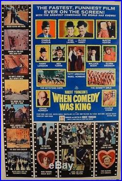 Original Vintage Movie Comedy Poster When Comedy Was King 1951