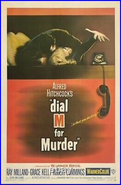 Original Vintage Movie Poster DIAL M FOR MURDER 1 Sheet HITCHCOCK Grace Kelly OL