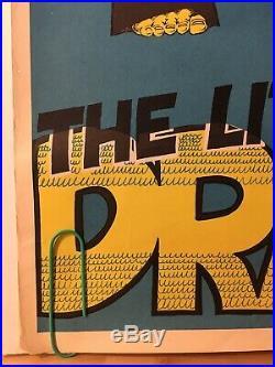 Original Vintage Poster 1979 Little Dragon Bruce Lee 70s Kung Foo Movie Promo