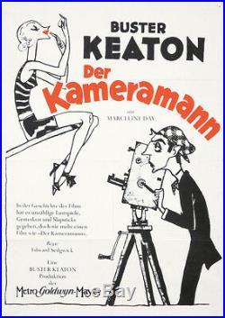 Original Vintage Poster Buster Keaton Film Cameraman German