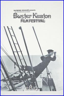 Original Vintage Poster Buster Keaton Film Festival 1970 Raymond Rohauer sailor