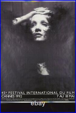 Original Vintage Poster Cannes Film Festival Marlene Dietrich 1992