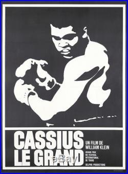 Original Vintage Poster Cassius Clay Muhammed Ali Film Boxing 1964
