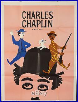 Original Vintage Poster Charlie Chaplin Revue Dog's Life Movie Shoulder Arms 59