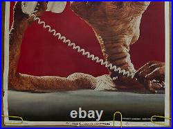 Original Vintage Poster E. T. Phone home 1982 the extra-terrestrial movie poster