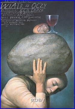 Original Vintage Poster Film Movie Raining Stones Ken Loach Polish Surreal 1995