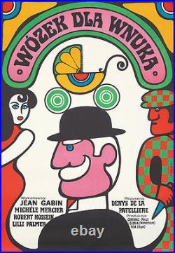 Original Vintage Poster Film Movie Stroller For a Grandson Polish 1967