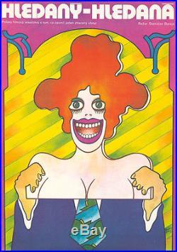 Original Vintage Poster Hledany Hledana Polish Movie Film 1973 Poland Cinema Fun