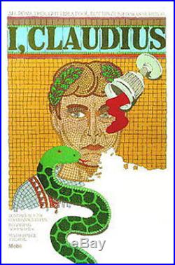 Original Vintage Poster I Claudius Chwast Derek Jacobi PBS Roman Emperor Rome