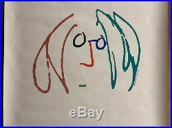 Original Vintage Poster John Lennon Imagine Movie Memorabilia Promo Headshop