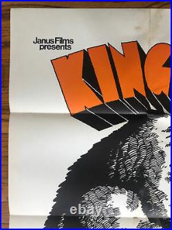 Original Vintage Poster King Kong The Great Chase 1968 One Sheet Movie Pin Up