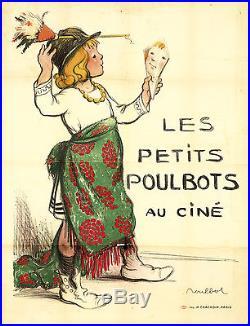 Original Vintage Poster Petits Poulbots French Caricature 1890s Children Humor