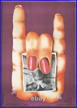 Original Vintage Poster Polish Film Unfaithful Wife Niewierna Zona 1975