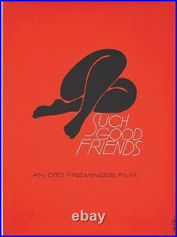 Original Vintage Poster Saul Bass Such Good Friends Otto Preminger 1971