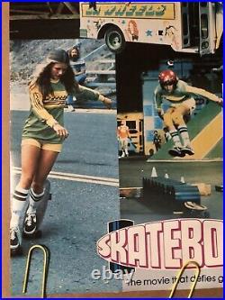 Original Vintage Poster Skateboard Movie Memorabilia 1970s Skating Skater