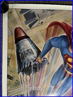 Original Vintage Poster Superman IV Movie Memorabilia Advertisement Pin Up Comic