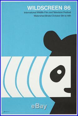 Original Vintage Poster Wildscreen 1986 Panda Bear Animal Film Wildlife Nature
