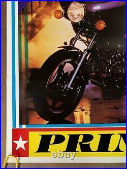 Original Vintage Poster prince purple rain music movie memorabilia80s motorcycle